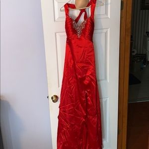 Satin Red Jovani Prom Dress